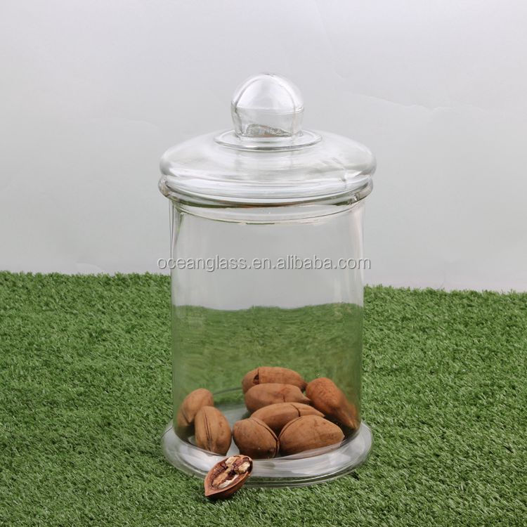 Glass canister for pickel with sealed lids Glass jar crafts Food containers crystal