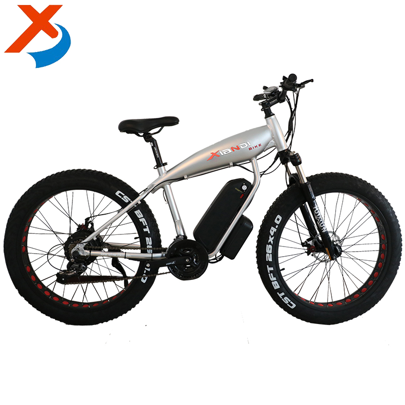 Factory selling high quality 26 inch fat snow electric bike with 250-500W 36 / 48V10A Li-ion battery in different size and color
