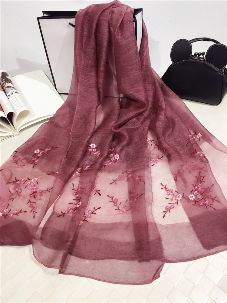 Top selling fashion embroidered shawl women long scarf