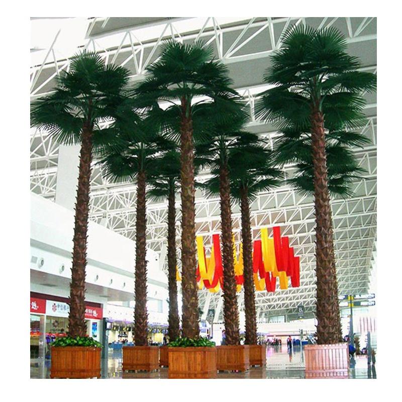 Outdoor Decorative Garden Plants Large Artificial Fan Palm Tree