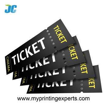 printing anti counterfeit event ticket with barcode buy event