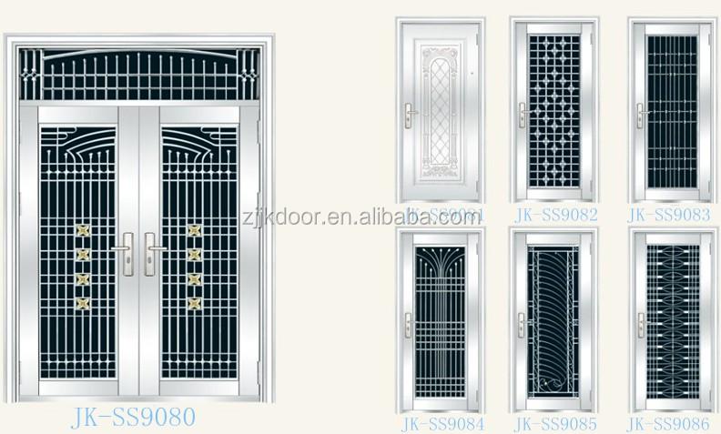Steel Doors Design For Home: Jk-ss9036 Stainless Steel Grill Door Design Luxury Metal