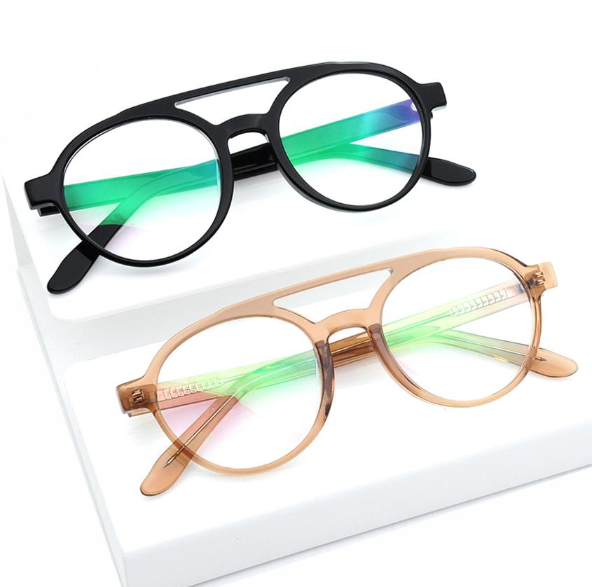 Transparent color acetate frame glasses optical eyewear eyeglasses frame made in china