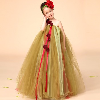 dbb697ca4 Flower Children Baby Girl Birthday Dresses Frock In Summer Party ...