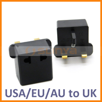 Travel Charger Plug Adapter US USA EU European Australia AU to UK United Kingdom Plug Converter