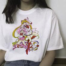 Sailor Moon футболка, летняя футболка Harajuku женская футболка с милым принтом Ullzang футболка Kawaii женская футболка с коротким рукавом Графический(China)