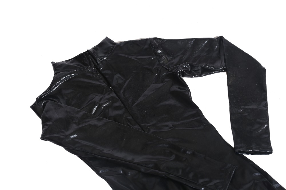 SPEERISE Adult Long Sleeve Catsuit Shiny Metallic Unitard ...