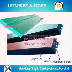 Conveyor Rubber Impact Cradle Bar with UHMWPE wear strip