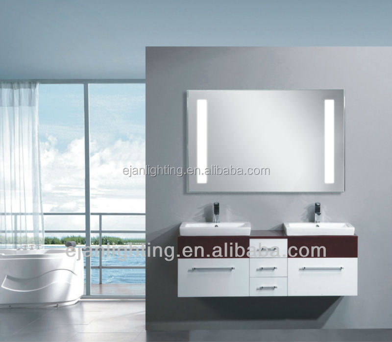 Contemporary Used Bathroom Accessories Touch Screen LED Mirror Light