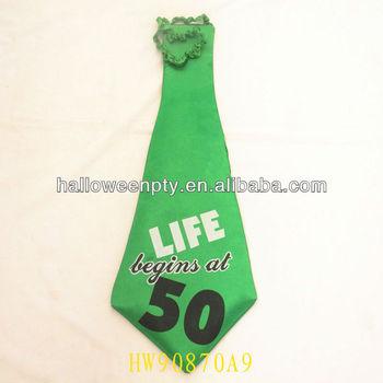 緑50歳の誕生日のネクタイで生活が始まる50でレタリング buy product