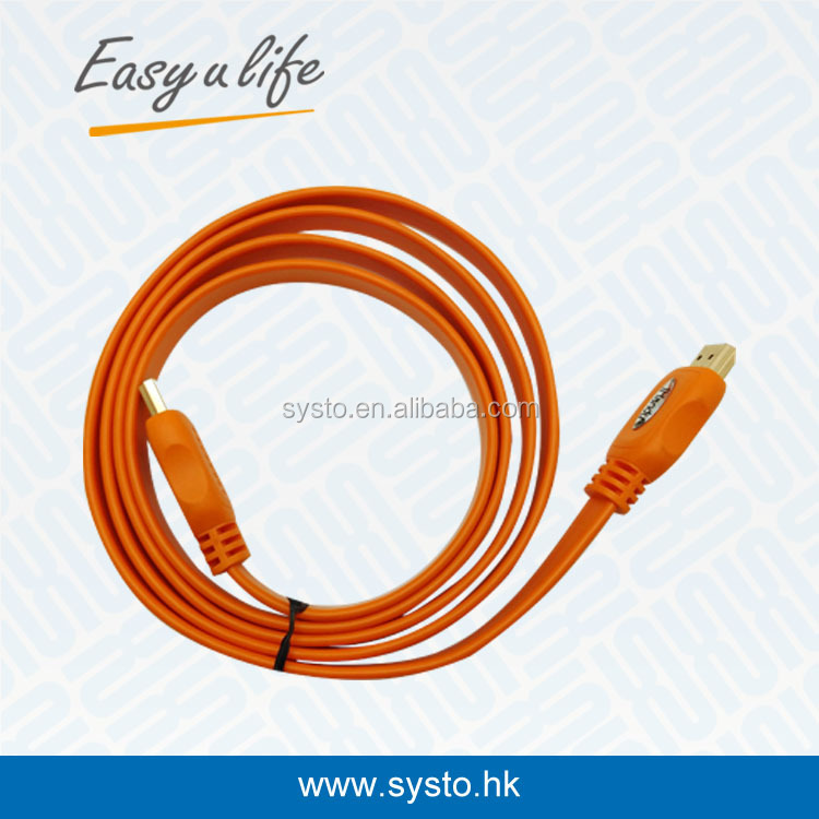 P105649hdmi 2.0 V 4K*2K Gold--plated Flat 2.0version HDMICable Cable male to male full HD 3D