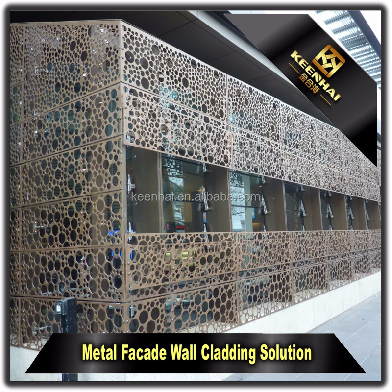 Facade Panel Laser Cutting Perforated Outdoor Aluminium