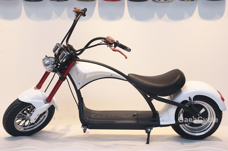 Gaea double battery electric scooter 2018 EEC citycoco 1000w 1500w 2000w fat tire motorcycle
