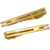 Simple Gold Plated Men Groons Tieclips Tray Tie Tack-Tie Bar Clips