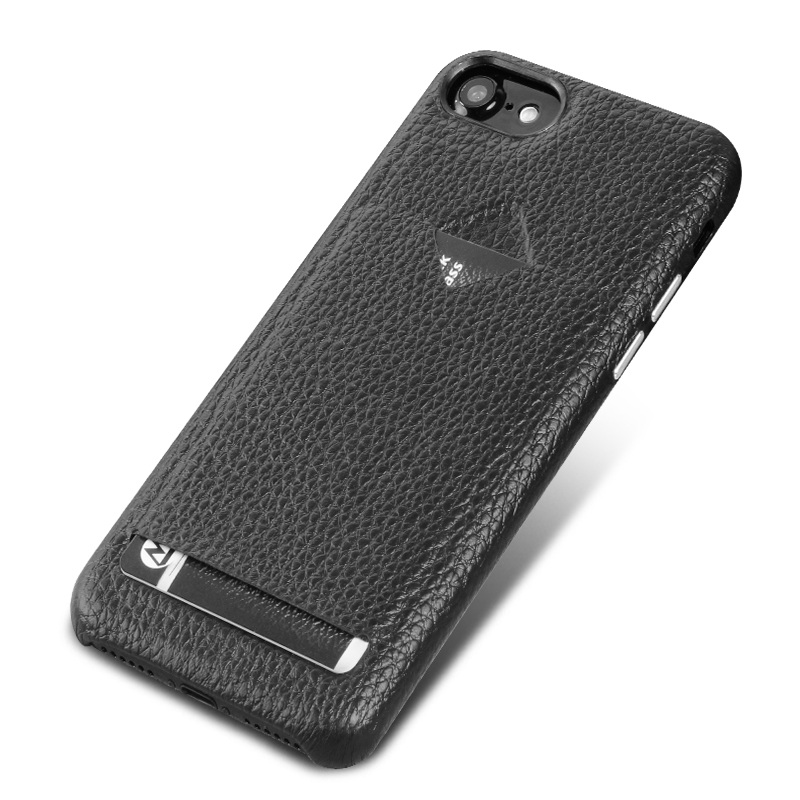 Black credit card holder case for iPhone 7 leather case