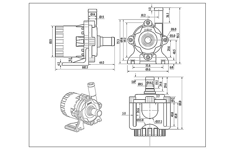 Compact low consumption High Pressure Centrifugal Pump Long life span