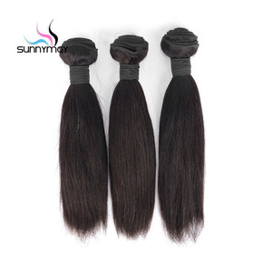 Factory Cheap Natural Unprocessed Virgin Indian Straight Hair Bundles Indian Remy Hair Weft bundles