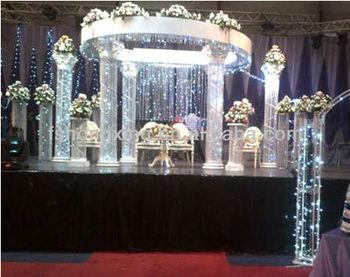 Jl 8090 Crystal Roman Column Wedding Background