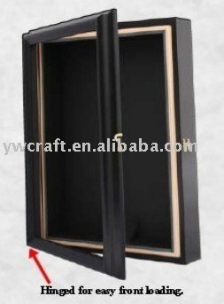 black wooden shadow box frame showcase2012 new design hot selling