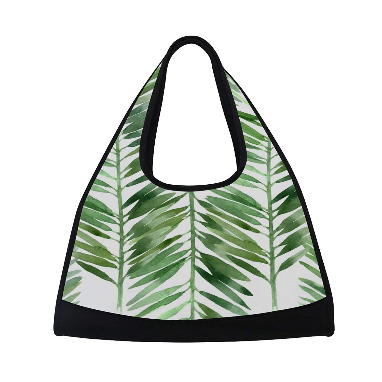 Sport Gym Bag Watercolor Leaf Canvas Travel Duffel Bag