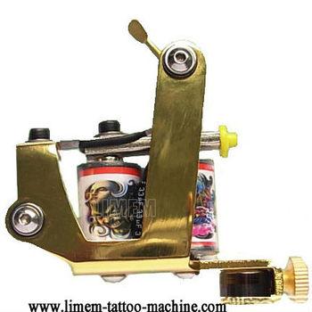 Golden Colour Best Brass Handmade Liner Tattoo Machine Tattoo Gun ...