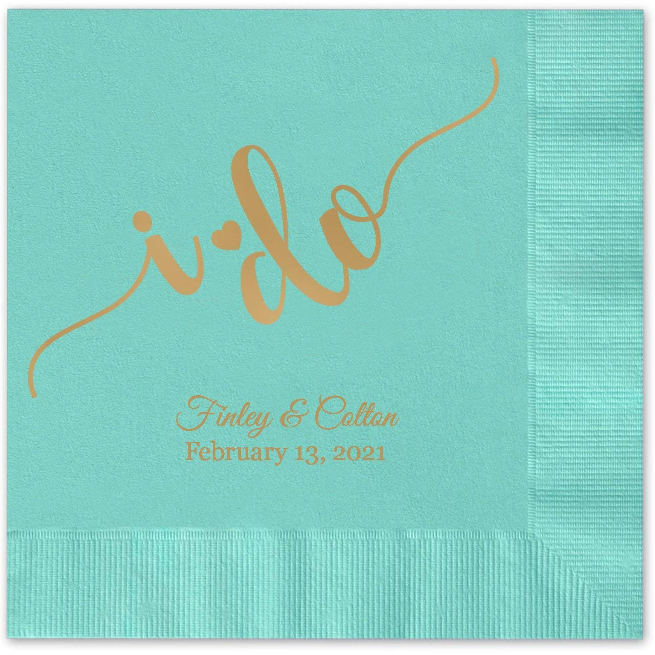 your choice of Napkin and Print colour Wedding Cards & Invitations Invitation Cards 100 Personalised Engagement Napkins