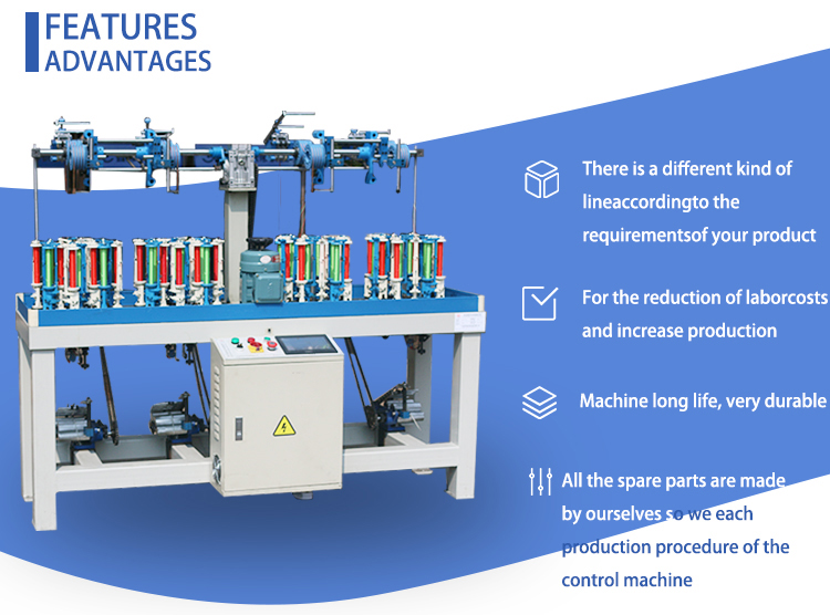 90 series high speed round rope shoe braiding machine for sale