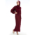 Factory Supply Middle East Wine Red Soft Crepe New Arrival Cosy Batwing Mualim Vietnam Dress Women Dresses Long Sleeve