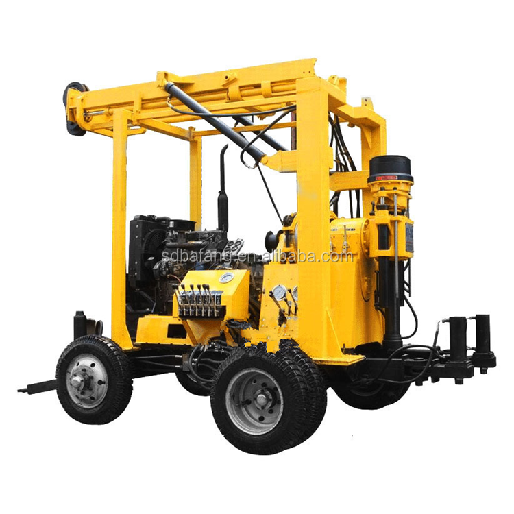 High effective percussion rotary  water well drilling rig