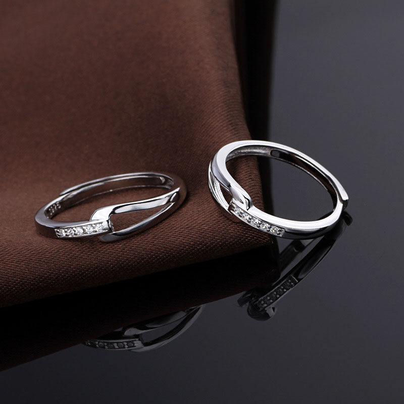 IN STOCK 925 Sterling Silver Jewelry egagement rings for lovers WJ3213