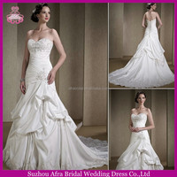 QQ1865 sweetheart satin cheap embroidered african style wedding dresses