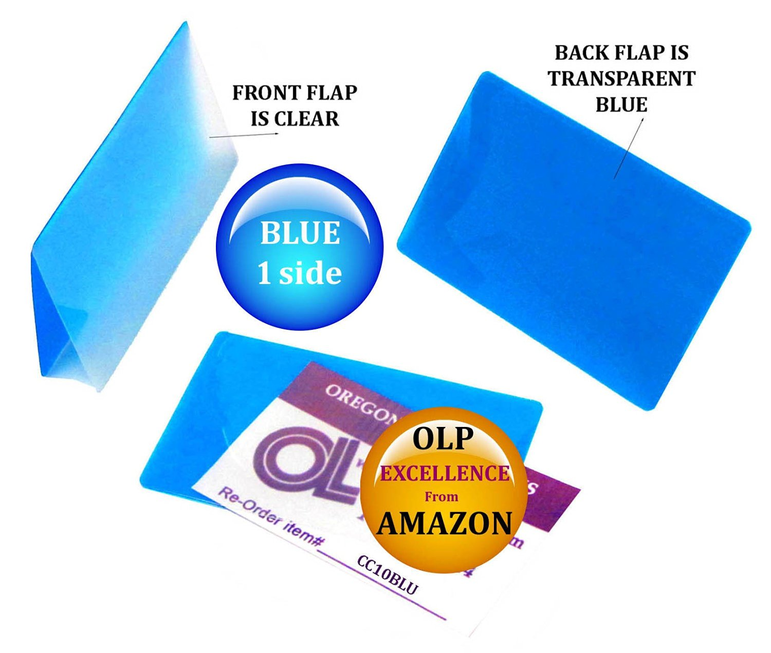Qty 5000 Blue/Clear Credit Card Laminating Pouches 2-1/8 x 3-3/8 by LAM-IT-ALL