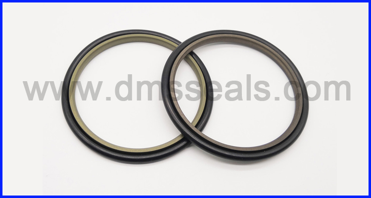 product-Single Acting Rubber Energized Plastic FacedSeal step seal for hydraulic sealing-DMS Seal Ma