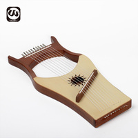 2020 Promotion 10 Strings Beech Wood Lyre Harp Musical Instrument Hot Sale