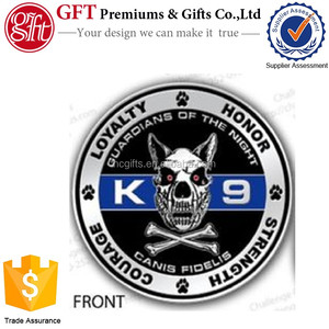 FREE quote and artwork design high quality custom logo Fire and Rescue Department K9 Challenge Coin.