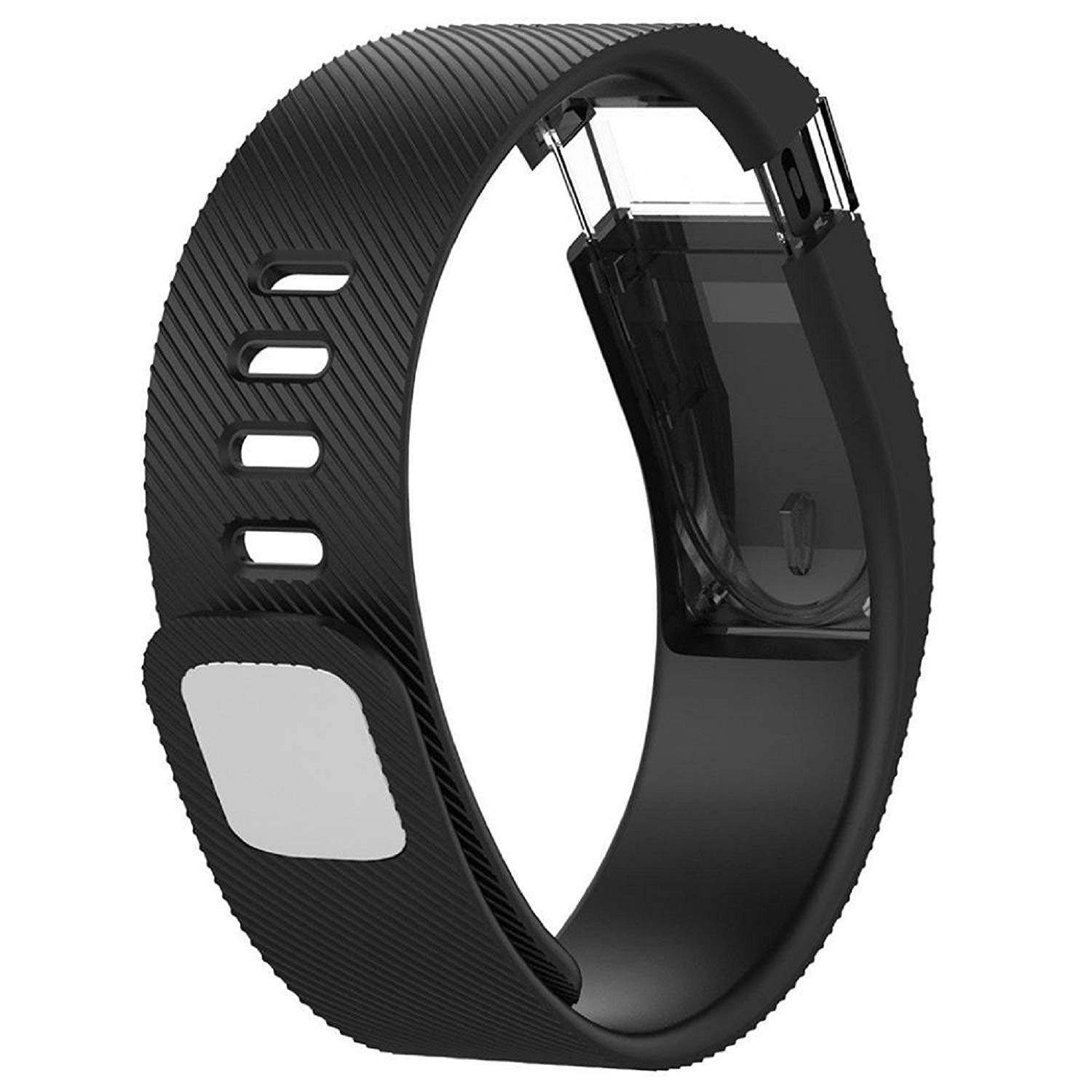 Owill Concise Soft Replacement Silicone Band Rubber Strap Wristband Bracelet For Fitbit Force (Black)
