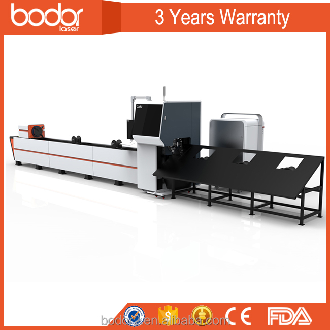 greating selling jinan bodor tube fiber laser cutting machine with 3 years warranty