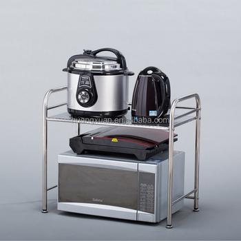 Est Stainless Steel Microwave Oven Shelf Kitchen Storage Rack