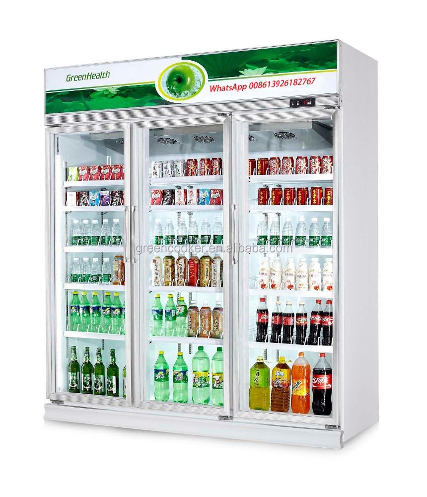 3 Glass Door Upright Coolerrefrigerator For Supermarket Buy Used
