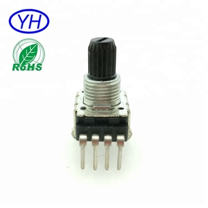 ROHS compliant Carbon film Insulation shaft 4 pins 11MM rotary linear b10k potentiometers
