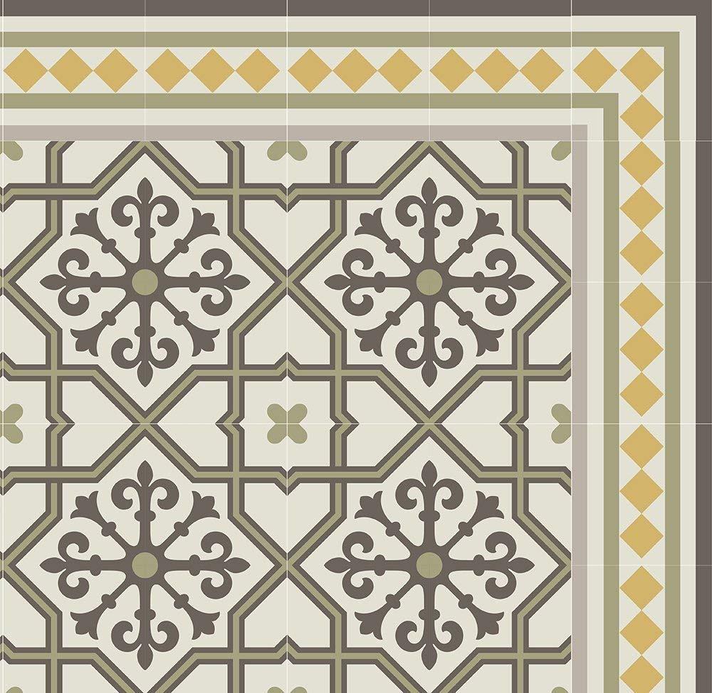 Get Quotations Green Brown Kitchen Vinyl Mat Carpet Tiles Pattern Decorative Linoleum Rug 605