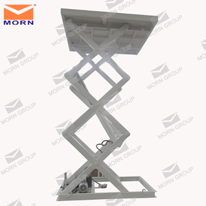 Fixed small warehouse hydraulic elevator scissor platform lift for industry