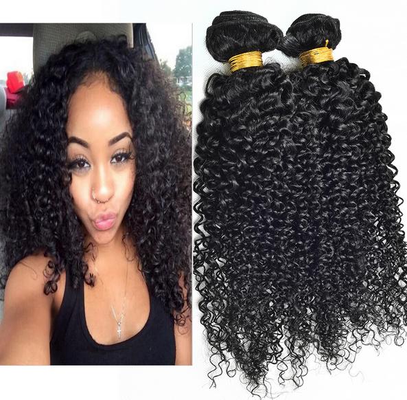 Nuevos Productos 2016 Enreda libremente Afro Rizado Virginal Ideal Ganchillo Con Las Trenzas Del Pelo Humano