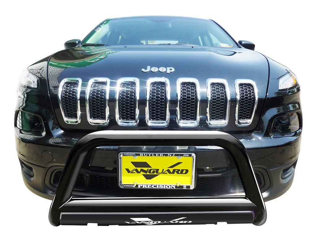 VANGUARD Off Road VGUBG-1182BK For Jeep Cherokee 2014-2019 Bumper Guard Black Bull Bar with Skid Plate