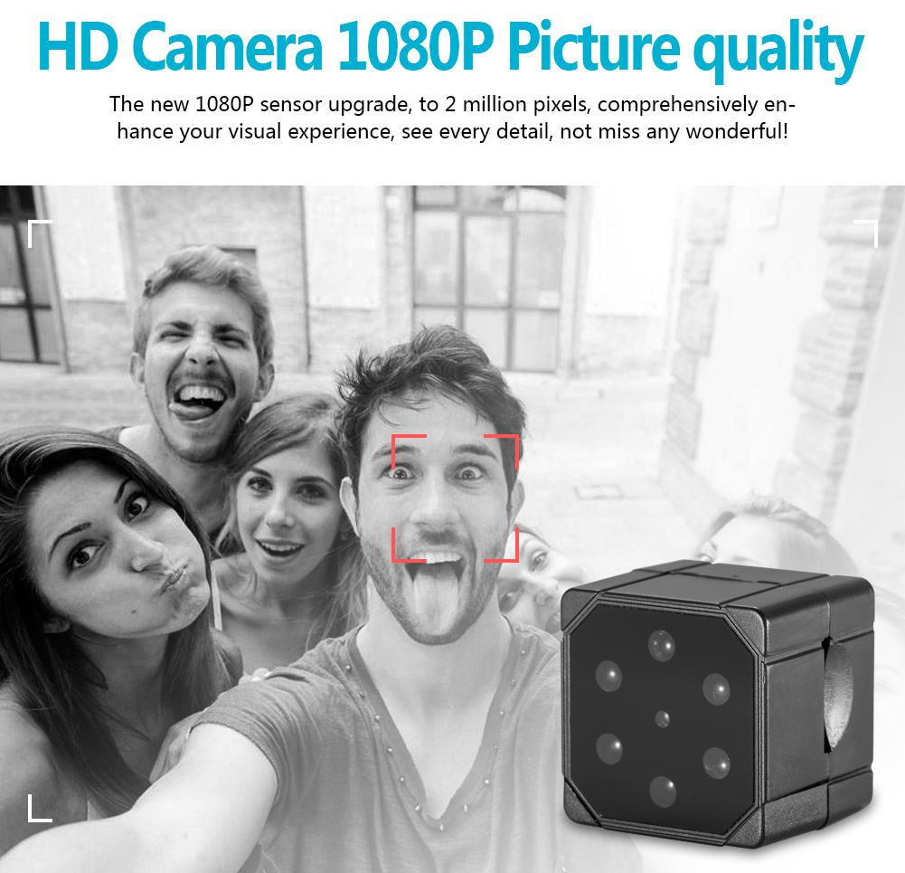 Orijinal SQ19 Mini DV Kamera Gece Görüş HD AV Çıkışı Ile Gizli Kamera, Hareket Detectioin