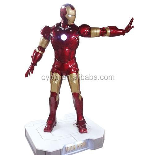 Custom Made Fiberglass Iron Man Sculpture Statue