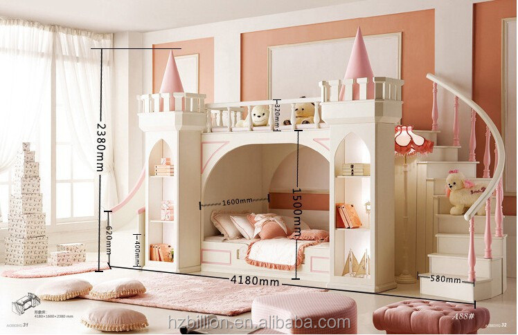 2015 kinder schlafzimmerm bel etagenbett prinzessin bett mit treppe bett produkt id 60235774359. Black Bedroom Furniture Sets. Home Design Ideas
