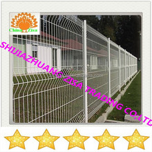 white welded wire fencing and post for airport