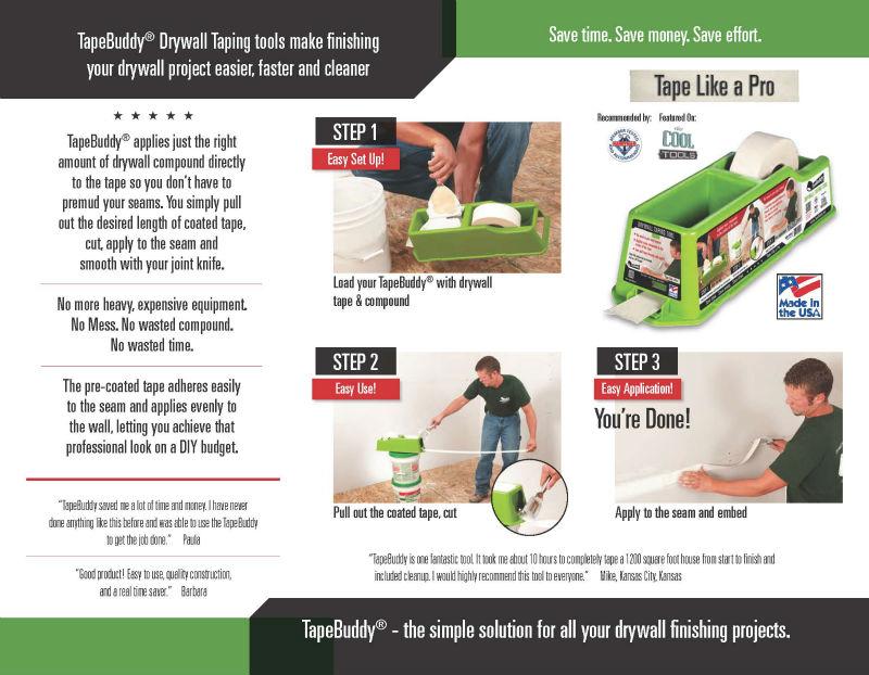 Tapebuddy - Buy Drywall Taping Tool Product on Alibaba com