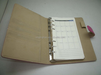 high quality pu leather cover blank log book for sale top grade
